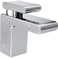 Metallix Pivot Silver Sparkle Mono Basin Mixer Tap - MPIV-BAS-SS - Bristan