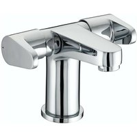 Quest 2 Handled Basin Mixer Tap with Clicker Waste - Chrome - Bristan