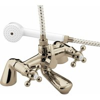 Regency Pillar Bath Shower Mixer Tap - Gold Plated - Bristan