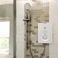 Smile Electric Shower, White, 9.5kW - Bristan