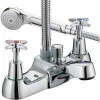 Bristan Value Crosshead Top Bath Shower Mixer Tap - Chrome Plated