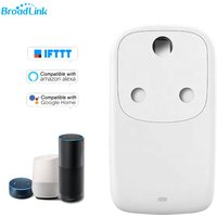 BroadLink BestCon SP4L-IN WiFi Smart Plug 10A Electrical Socket Smart Phone APP Remote Control Alexa Google Home Voice Control IFTTT,model:White
