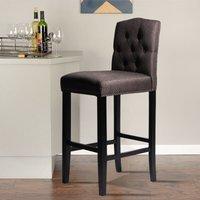 Brown Bar Stool Wooden High Legs Breakfast Bar Seat Chairs Kitchen Dining Furniture
