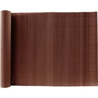 Brown PVC Fence Screen Bamboo Mat Border Panel Garden Wall Privacy Protect,1.2x3M - LIVINGANDHOME