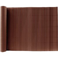 Brown PVC Fence Screen Bamboo Mat Border Panel Garden Wall Privacy Protect,1.5x5M