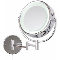 LED Cosmetic Magnifying Mirror - Silver - Signature