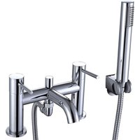 Pesca Bath Shower Mixer Tap with Shower Kit and Bracket - Chrome - Signature
