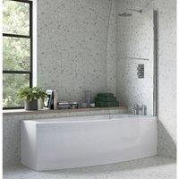 BTL Space Saver Shower Bath 1700mm x 695mm RH - BATHROOMS TO LOVE