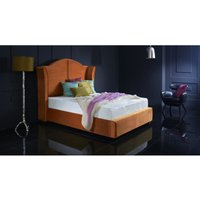 Buckingham Burnt Orange Malia Double Bed Frame