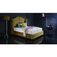 Buckingham Mustard Malia Double Bed Frame