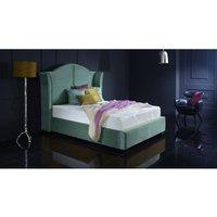 Buckingham Teal Malia Double Bed Frame