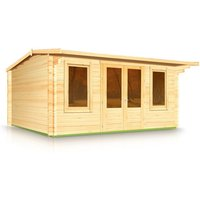 Budget Apex Style Roof Log Cabin 4.0m x 5.0m x 44mm