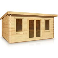 Timber Garden Trade - Budget Pent Style Roof Log Cabin 3.0m x 4.0m x 44mm