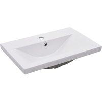 Built-in Basin 61x39.5x18.5 cm Ceramic White - VIDAXL