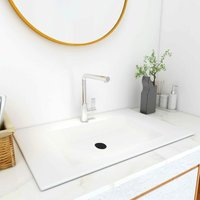 Built-in Wash Basin 600x460x130 mm SMC White - White - Vidaxl