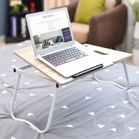 Laptop Laptop Desk Adjustable Breakfast Table Stand Serving Foldable Bed Tray A - AUGIENB
