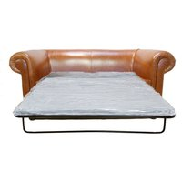 Designer Sofas 4 U - Buy 1930s Style Chesterfield Sofa Bed| Bruciato leather
