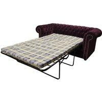 Buy luxury purple fabric Chesterfield sofa bed | DesignerSofas4U