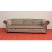 Designer Sofas 4 U - Buy mink fabric Chesterfield sofa UK | DesignerSofas4U