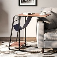 C Shaped Coffee Table Bed Sofa Side Table - LIVINGANDHOME