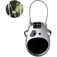 Cable Lock: Bike Locks with Combinations ,Helmet Lock Luggage Lock ,Special Need Lock Stroller Lock Combo Mini Lock or with Retractable Steel, silver