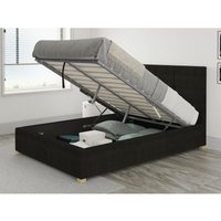 Aspire - Caine Ottoman Upholstered Bed, Kimiyo Linen, Charcoal - Ottoman Bed Size King (150x200)