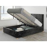 Caine Ottoman Upholstered Bed, Mirazzi Velvet, Black - Ottoman Bed Size Single (90x190)