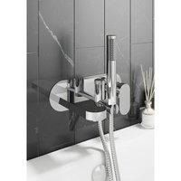 Architeckt - Modern Bathroom Bath Shower Mixer Tap Round Hand Held Wall Mounted Single Lever
