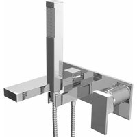 Form Wall Mounted Bath Shower Mixer with Handset - Chrome - Cali
