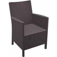 Netfurniture - Cali Rattan Arm Chair - Brown