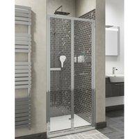 Seis Bi-Fold Shower Door - 700mm Wide - 5mm Glass - Cali