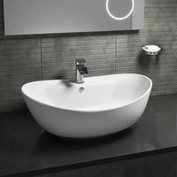 Vessel Oval Counter Top Basin - 600mm Wide - 1 Tap Hole - Cali