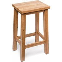 Camberley Oak Breakfast Bar Stool with Light Oak Finish 60cm High | Wooden Kitchen Seat Suitable for Breakfast Bar Tables