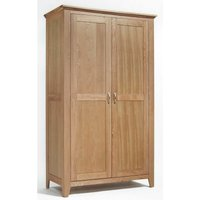 Hallowood - Camberley Oak Full Hanging Wardrobe in Light Oak Finish | Wooden Childrens / Kids / Gents / Double Robe