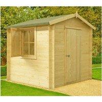 Shire - Camelot Log Cabin Home Office Garden Room Approx 8 x 8 Feet