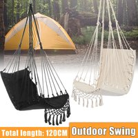 Drillpro - Camping Hammock Swing Chair Hanging Chair Swing Bed Chair Seat Suitable for Indoor Outdoor Courtyard (Black)