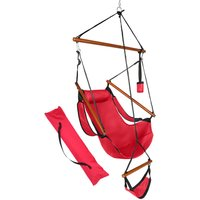 Camping Hammock Swing Chair, Portable Oxford Cloth Hanging Chair with Carry Bags for Outdoor Patio Yard Garden, 220 LBS Capacity (Red)