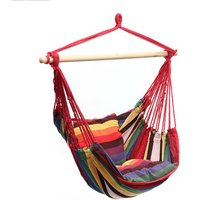 Camping Tent Hanging Hammock Chair 120KG Red Home Portable Outdoor Swing Chair Outdoor Seating Camping Garden - AUGIENB