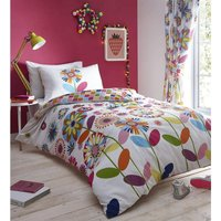 Candy Bloom Floral Reversible King Size Duvet Cover Set Bright Colourful Bedding Set
