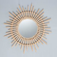 Cane Makes Up Dressing Mirror Bedroom Bathroom Wall Hangings Mirrors Decoration Porch Round Mirror,model:Multicolor XH20-707