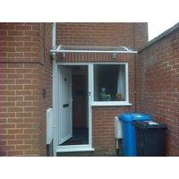 Canofix Uk - CANOFIX Door Canopy PC 1000 Width x 650 Projection / DIY Polycarbonate Cantilever Awning/Window Door Pathway Walkway Garden Shed Porch