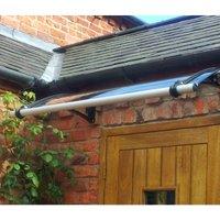 CANOFIX Door Canopy PC 1200 Width x 650 Projection / DIY Polycarbonate Cantilever Awning/Window Door Pathway Walkway Garden Shed Porch Patio (Black