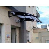 CANOFIX Door Canopy PC 1500 Width x 1270 Projection / DIY Polycarbonate Cantilever Awning/Window Door Pathway Walkway Garden Shed Porch Patio (Black