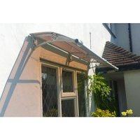 Canofix Uk - CANOFIX Door Canopy PC 1500 Width x 650 Projection / DIY Polycarbonate Cantilever Awning/Front Window Back Door Pathway Walkway Garden