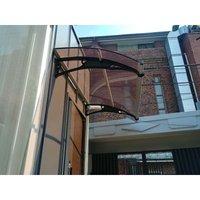 CANOFIX Door Canopy PC 1800 Width x 1000 Projection / DIY Polycarbonate Cantilever Awning/Window Door Pathway Walkway Garden Shed Porch Patio (Black
