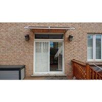 Canofix Uk - CANOFIX Door Canopy PC 1800 Width x 1000 Projection / DIY Polycarbonate Cantilever Awning/Window Door Pathway Walkway Garden Shed Porch