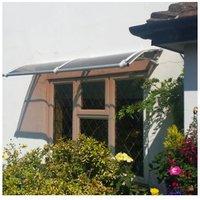 CANOFIX Door Canopy PC 2000 Width x 1000 Projection / DIY Polycarbonate Cantilever Awning/Window Door Pathway Walkway Garden Shed Porch Patio (Grey