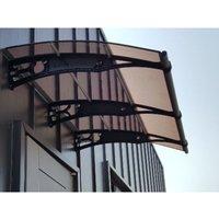 CANOFIX Door Canopy PC 2000 Width x 1270 Projection / DIY Polycarbonate Cantilever Awning/Window Door Pathway Walkway Garden Shed Porch Patio (Black