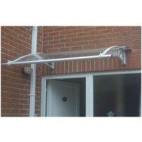 CANOFIX Door Canopy PC 2000 Width x 1270 Projection / DIY Polycarbonate Cantilever Awning/Window Door Pathway Walkway Garden Shed Porch Patio (Grey