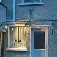 Canofix Uk - CANOFIX Door Canopy PC 2000 Width x 1500 Projection / DIY Polycarbonate Cantilever Awning/Window Door Pathway Walkway Garden Shed Porch
